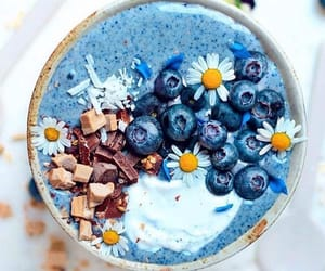 blue, yummy, and blueberries image