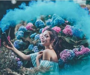 girl, photography, and flowers image