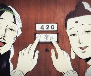 420, anime, and weed image