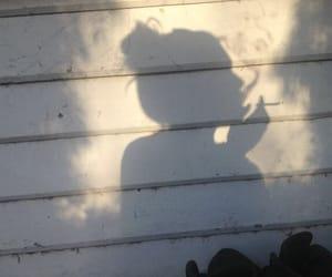 girl, smoke, and ombre image