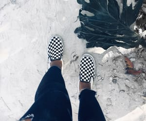 aesthetic, black and white, and checkerboard image