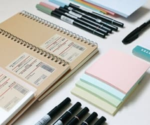 college, notebooks, and supplies image