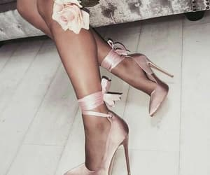 gold, pink, and shoes image