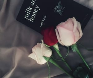 book, flowers, and hijab image