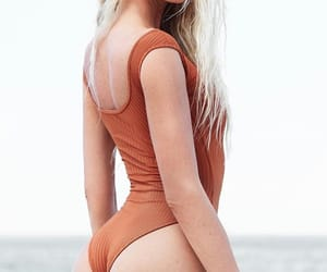 beach, blonde, and butt image