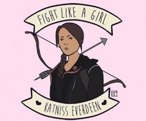 katniss everdeen, hunger games, and fight like a girl image