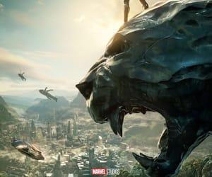 black panther, Marvel, and wakanda image