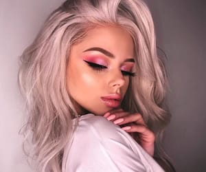 makeup, beautiful, and hair image