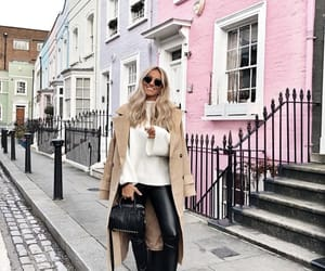 blogger, blonde, and coat image
