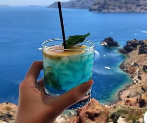 blue, drink, and holiday image