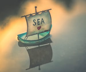 hearts, love it, and the sea image