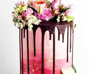 cake, cake design, and flowers image