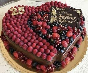 blueberries, boyfriend, and cake image