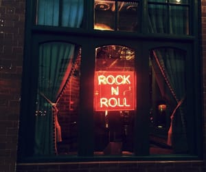 grunge, neon sign, and rock image