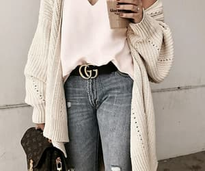 fashion, drink, and jeans image