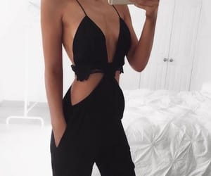 chic, style, and black image