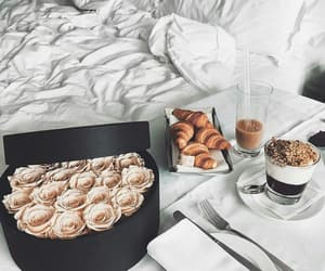 breakfast, rose, and food image
