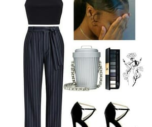 Polyvore, polo ralph lauren, and black square neck groptop image