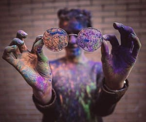 colors, girl, and glasses image