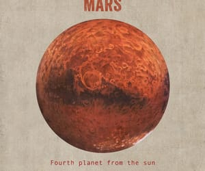 mars, planet, and red image