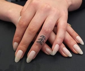 nails, tattoo, and beauty image