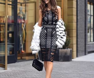 bag, chic, and dress image