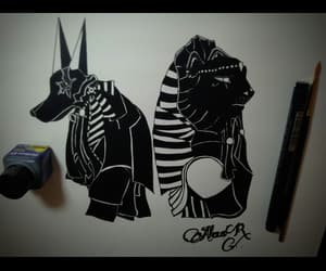 anubis, love, and draw image