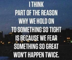 quotes, hold on, and fear image