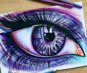 eye, eyes, and purpal image