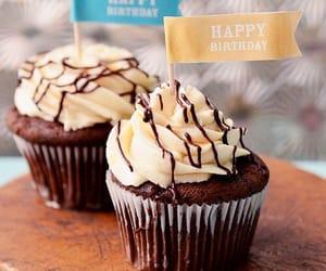 birthday, b'day, and cupcake image