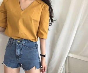 fashion, kfashion, and yellow image