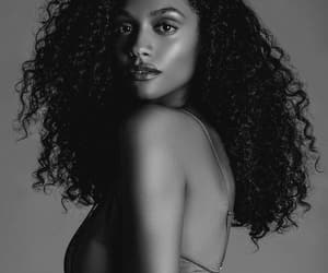 black girl, curly hair, and afro hair image