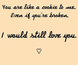 broken, cookie, and love image