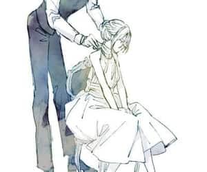 anime, butler, and long dress image