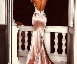 pink, dress, and style image