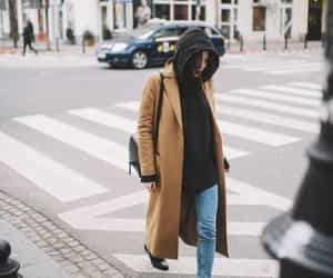 autumn, black sweatshirt, and cool girl image