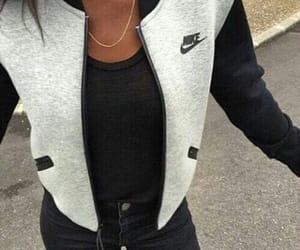 jacket, necklace, and nike image