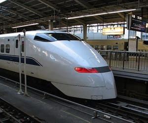 japan, bullet train, and high speed rail image