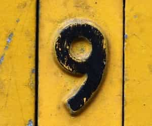 9, numbers, and yellow image