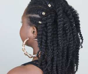 black women, natural hair, and pretty hair image