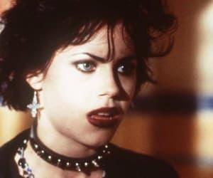 alternative, heroin chic, and dark lipstick image