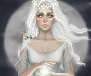 girly_m, moon, and girly image