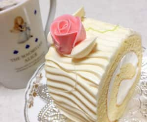 cake, cream, and pastel image