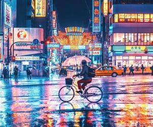lights, neon, and tokyo image