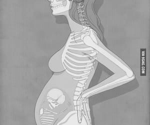 baby, pregnant, and woman image