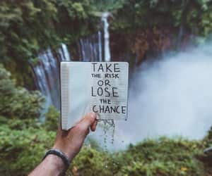 chance, quotes, and waterfall image