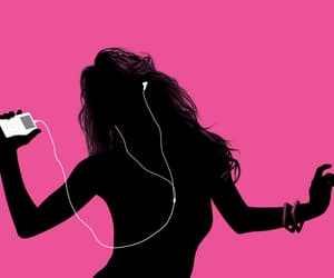 music, pink, and ipod image