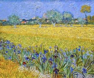 art, painting, and iris image