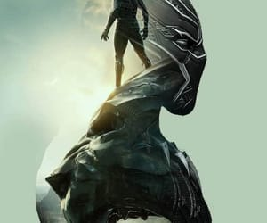 black panther, Marvel, and superhero image