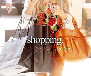 shopping, girl, and bag image